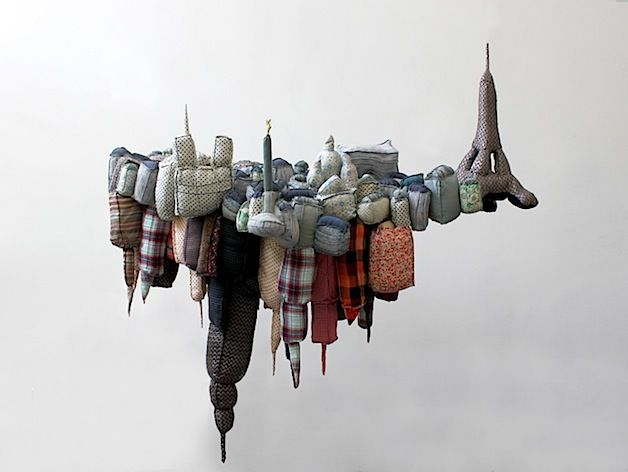 City scape by French artist Emilie Faif  #soft_sculpture #fabric