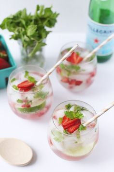 Strawberry Mojito from @Cyd Converse | The Sweetest Occasion