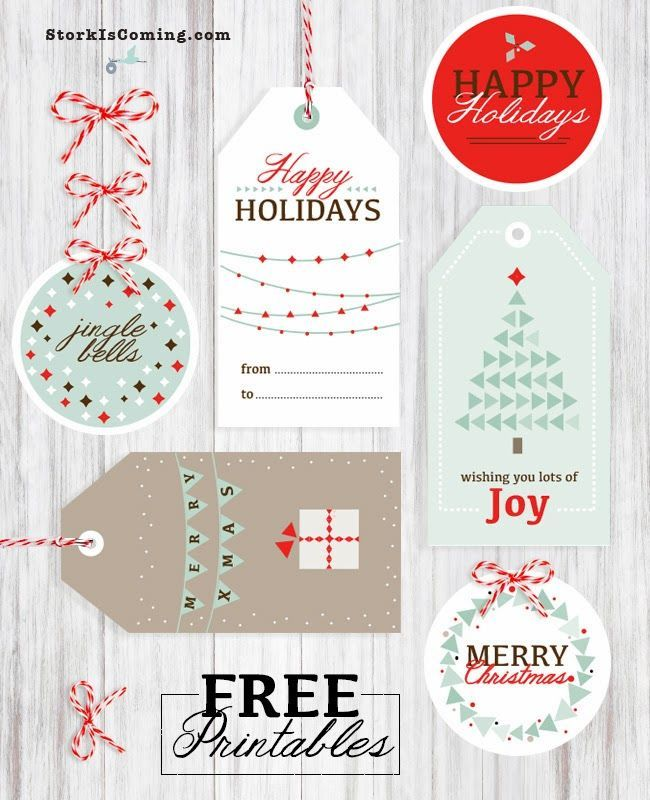 Free printable gift tags with great modern designs
