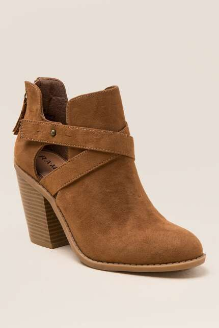 love these boots. Rampage Vedette Ankle Boot | Francesca's | women's boots | ankle boots | brown boots | casual boots | fall fashion | affiliate