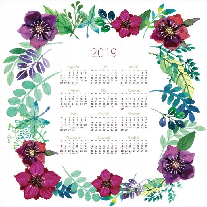 Kalendarz 2019 Prezent Mandala Kwiaty 90x90 Cm 7711619636 Oficjalne Archiwum Allegro Calendar Life Is Strange Bullet Journal