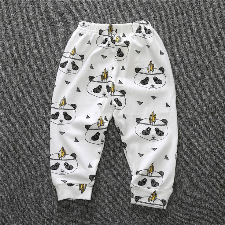RK-130 Autumn 2017 children boy girl cotton trousers top quality newborn baby pants cute cartoon animal printed baby Leggings