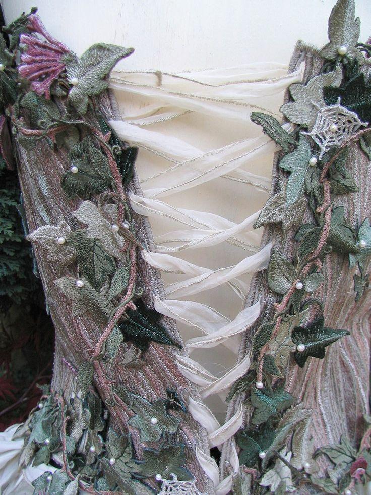 153 best fantasy clothing images on pinterest for Nature themed wedding dress