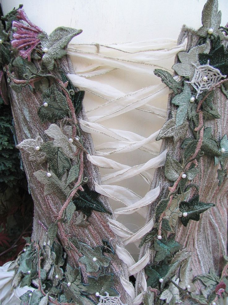 153 best fantasy clothing images on pinterest for Nature themed wedding dress