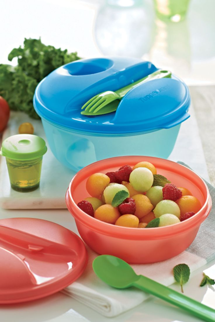 Tupperware twistable vegetable peeler chili red free shipping - Salad On The Go Set And Bite On The Go Set Set S Accessories Attach To