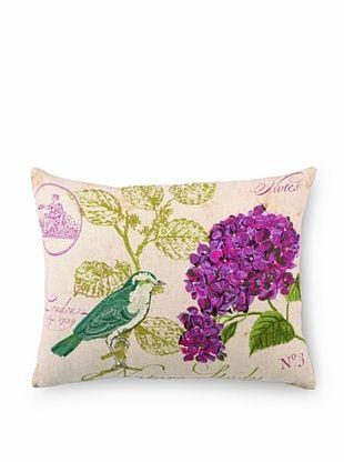 50% OFF Peking Handicraft Nature Study #3 Embroidered Pillow