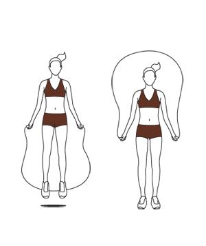Get your heart racing with a quick exercise routine that calls for jumping rope.