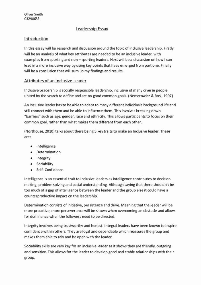 Leadership Essay Example Fresh For Research Paper On Scholarship Examples