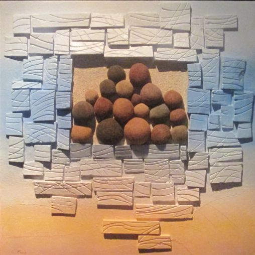 """""""Racconti del mare"""" cm 70 x 60 Tecnica: polimaterica"""