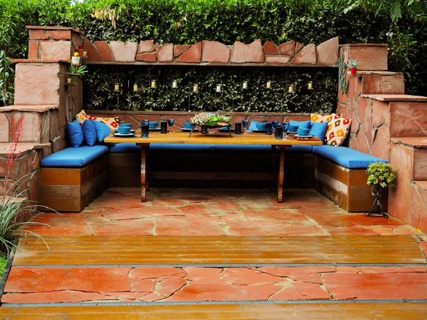 Colorful Outdoor Rooms : Outdoors : Home & Garden Television