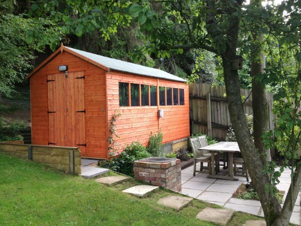 tiger xl heavyweight workshop shed garden workshop sheds