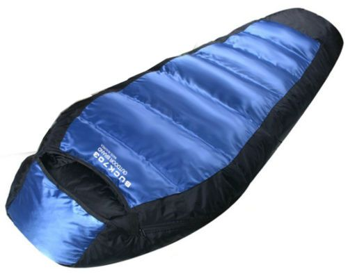 Goose Duck Down Sleeping Bag Cold Winter Outdoor Camping Hiking Hunting Quilt