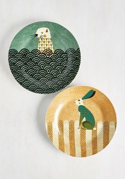 Wild the Gettin's Good Plate Set in Otter & Hare - Large