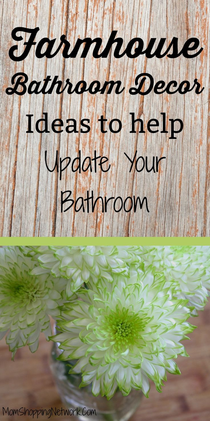 These Farmhouse Bathroom Decor Ideas will help you update your bathroom in no time, plus they won't break the bank! Farmhouse Bathroom Decor |Farmhouse Bathroom Decor Ideas | Farmhouse Bathroom Decor Tips | Farmhouse Bathroom Ideas | Farmhouse Bathroom Decor Signs | Farmhouse Bathroom Decor Towel Holders | Farmhouse Bathroom Decor Shelves | Farmhouse Bathroom Decor Rugs | Farmhouse Bathroom Decor Storage | Farmhouse Bathroom Decor Mason Jars #farmhousebathroom #bathroomdecor…