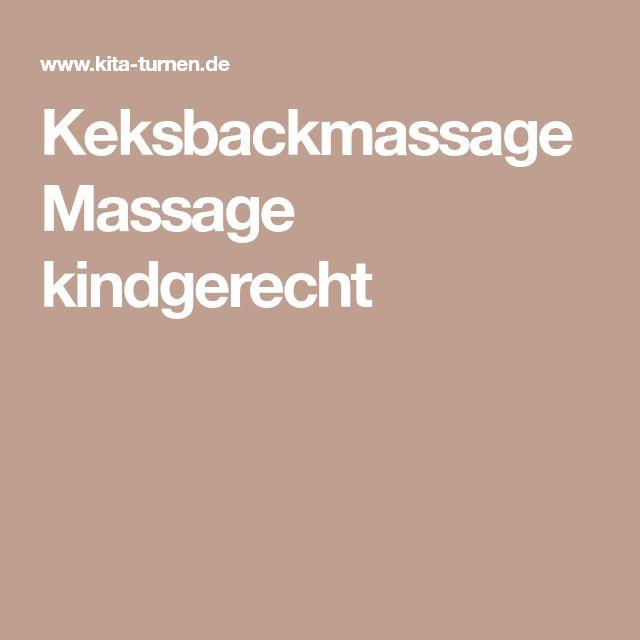 Keksbackmassage Massage kindgerecht