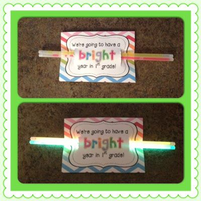 'Glowing' back to school freebie - your students will love you! Pre-k to grade three tags.
