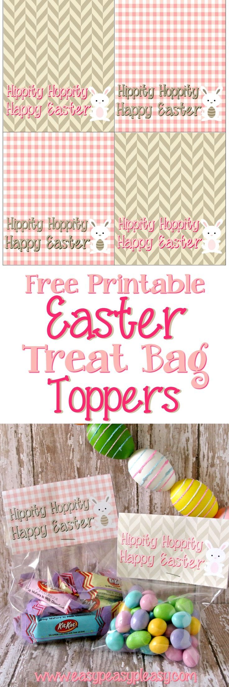 Free Printable Easter Treat Bag Toppers   – Easter tags