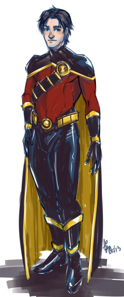 """Sketch redesign of Justice Lords Tim"" I think I like this one a lot better than the actual costume."
