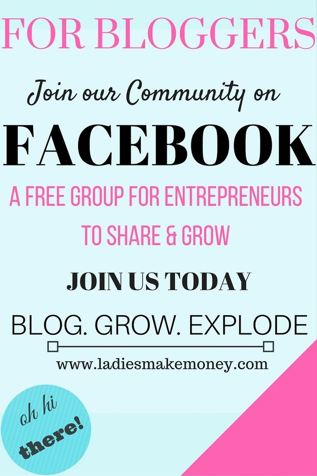 Are you part of our Facebook group for female entrepreneurs? If you are looking for a great group to promote your work, share your thoughts and learn from others, consider joining our group today! Just hit this link!