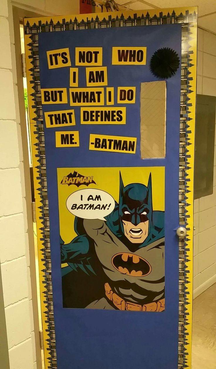 Superhero classroom door batman