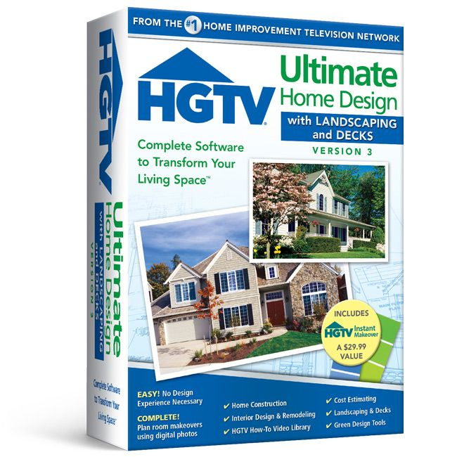 Hgtv ultimate home design with landscaping decks 3 Complete home design software