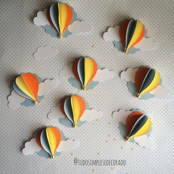 Apliques Balões 3D