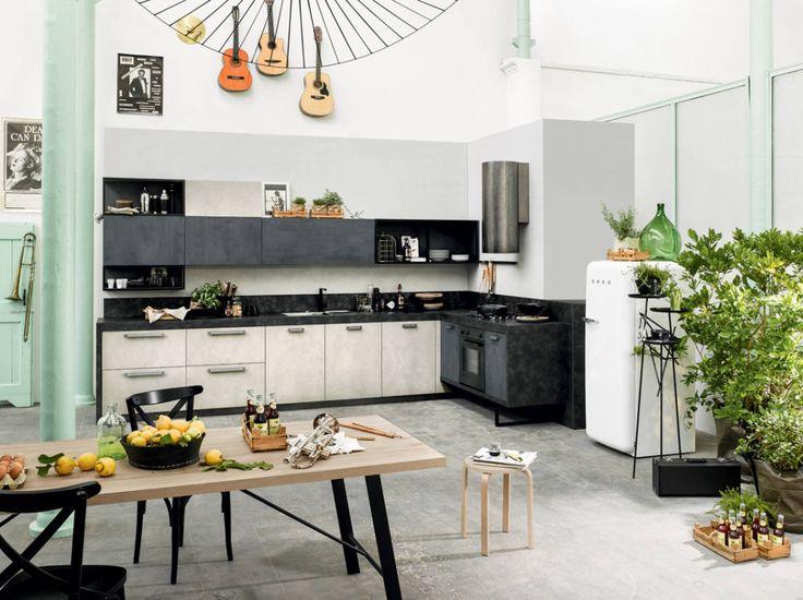 キッチンにはどのような床材が良いですか? #キッチン #床 #素材 #homify https://www.homify.jp/ideabooks/245011 Dibiesse SpA の 収納 Spring Urban