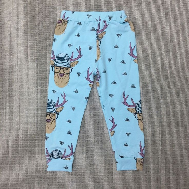2017 New Baby Christmas Reindeer Pants Boys Girls Autumn Pants Kids Cotton Trousers Children Fashion Reindeer Leggings 38E