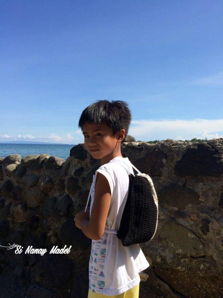 Drawstring Backpack by Si Nanay Madel
