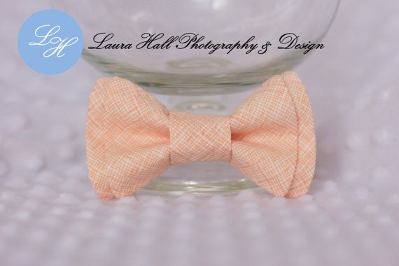 Guy and Abe Etsy listing at https://www.etsy.com/listing/154037600/peach-bow-tie-peach-bow-tie-plaid-peach