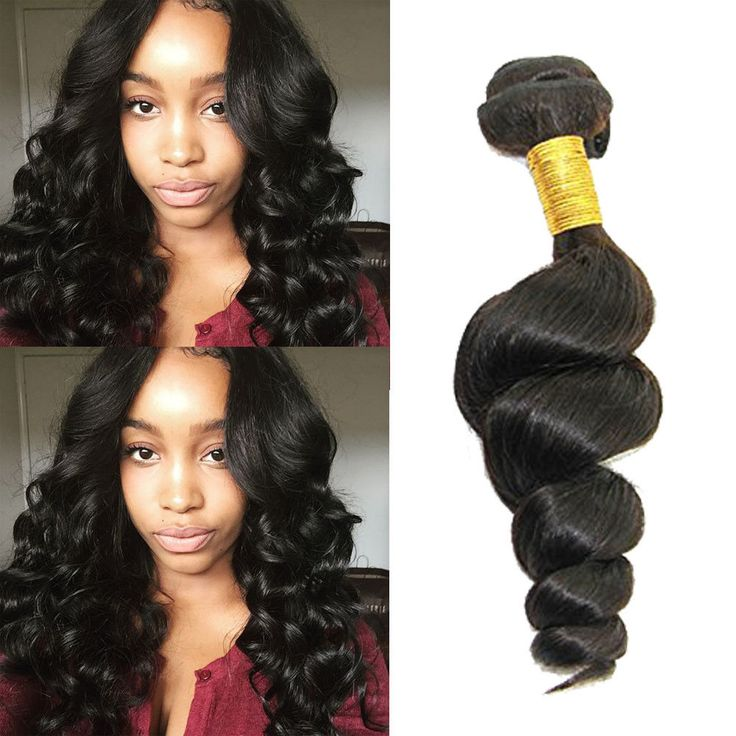 "300g 10"" 100% Brazilian Real Human Hair Extension Black Loose Wave Hair Weft #Unbranded"