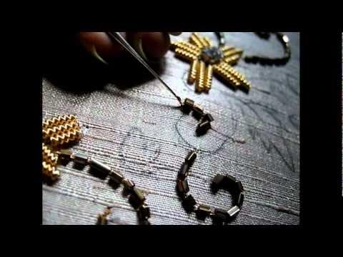How to hand bead a garment - you tube by zardosi
