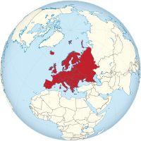 Lage Europas auf einer Weltkarte              Fläche10.180.000 km² Bevölkerung742 Millionen (Mitte 2015)[1] Bevölkerungsdichte75 Einwohner/km² Länderca. 50 ZeitzonenUTC (Island) bis UTC+4 (Russland)