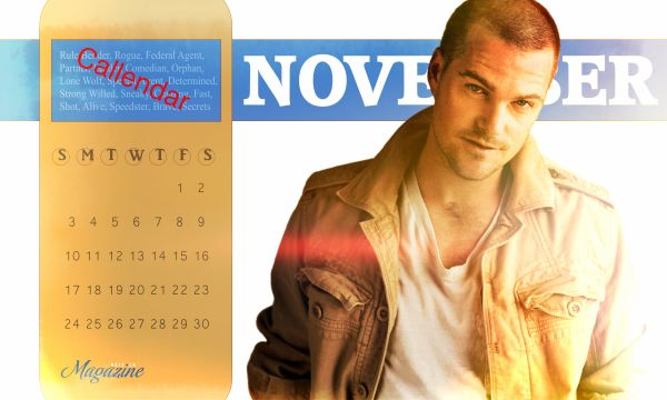 "Callen's Corner: November Calendar by @AjNcisla - Ha ha! ""CALLENdar""!"