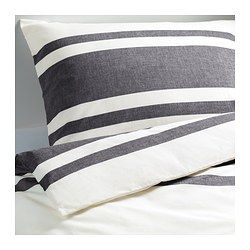 BJÖRNLOKA Duvet cover and pillowcase(s), black white, black - white/black - Full/Queen (Double/Queen) - IKEA