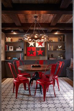 Tahoe Modern - rustic - dining room - san francisco - Artistic Designs for Living, Tineke Triggs