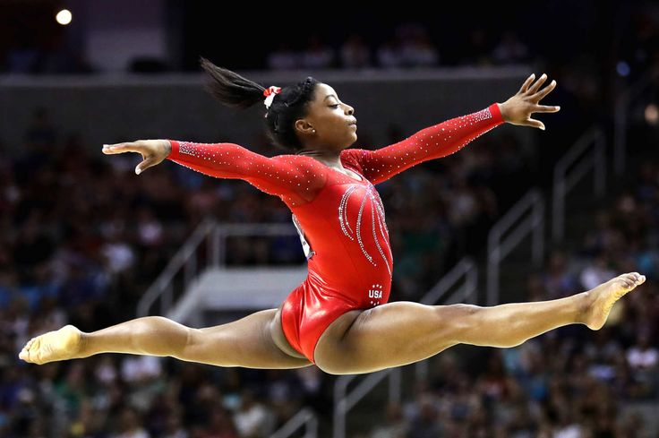 Simone Biles competes in the floor exercise during day two of the 2016 U.S. Women's Gymnastics Olympic Trials.