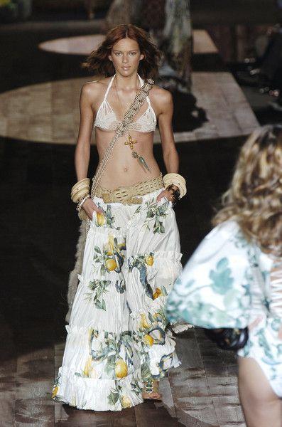 Roberto Cavalli at Milan Fashion Week Spring 2005 ...