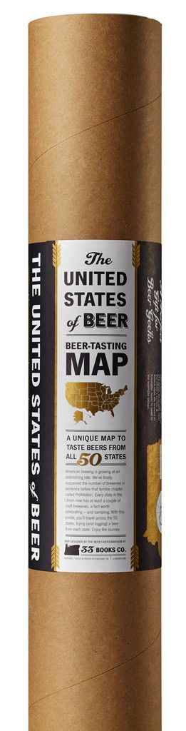 The United States of Beer Poster Mailing Tube