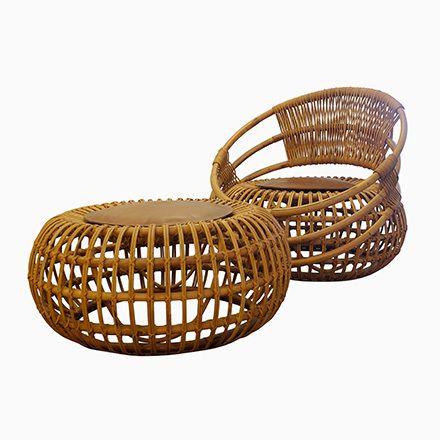 Rattan Garden Chair U0026 Ottoman By Ico Parisi For Bonacina, 1959 Jetzt  Bestellen Unter: Https://moebel.ladendirekt.de/garten/gartenmoebel/gartenstuehle/?uidu003d  ...