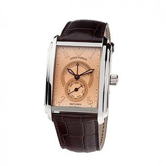 Emporio Armani Mens Meccanico Leather Strap AR4210
