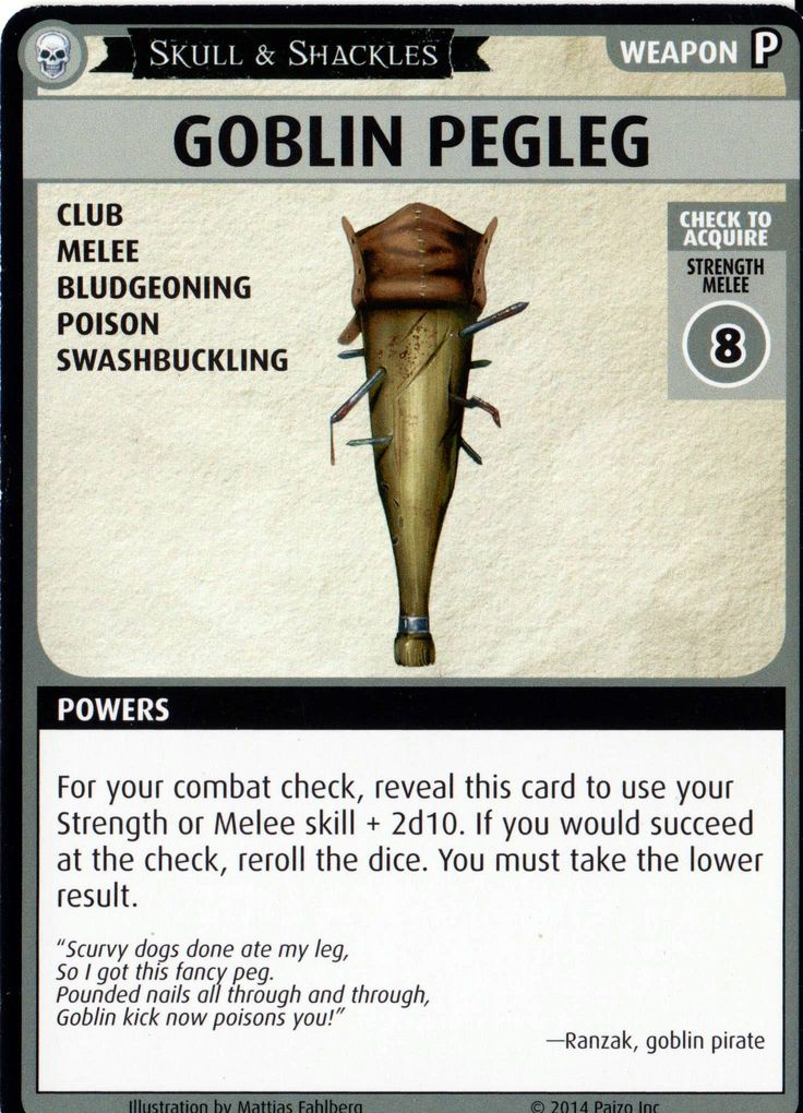"Pathfinder Adventure Card Game Skull & Shackles ""Goblin"