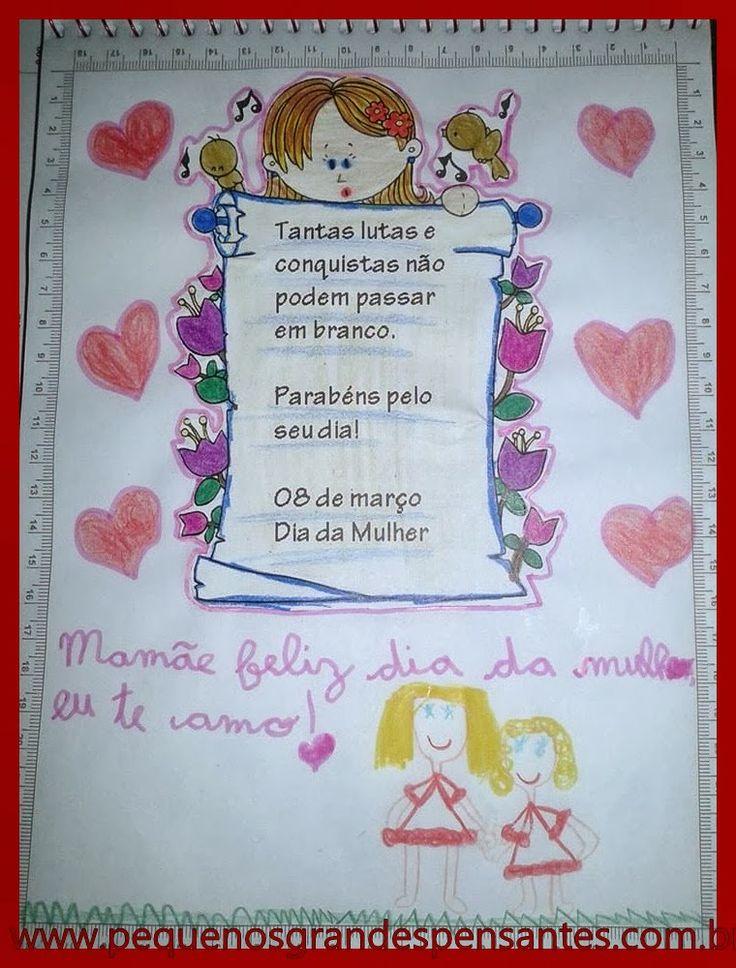 Pequenos Grandes Pensantes.: Feliz Dia Internacional  da Mulher