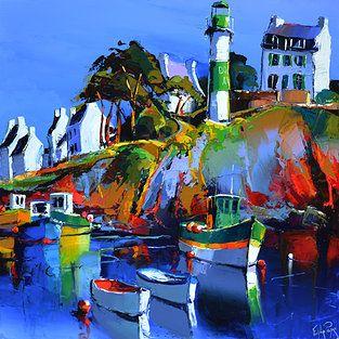 French Art Network | Lepape, Eric - DOELAN-LE PHARE - (60x60cm) - oil on linen painting.