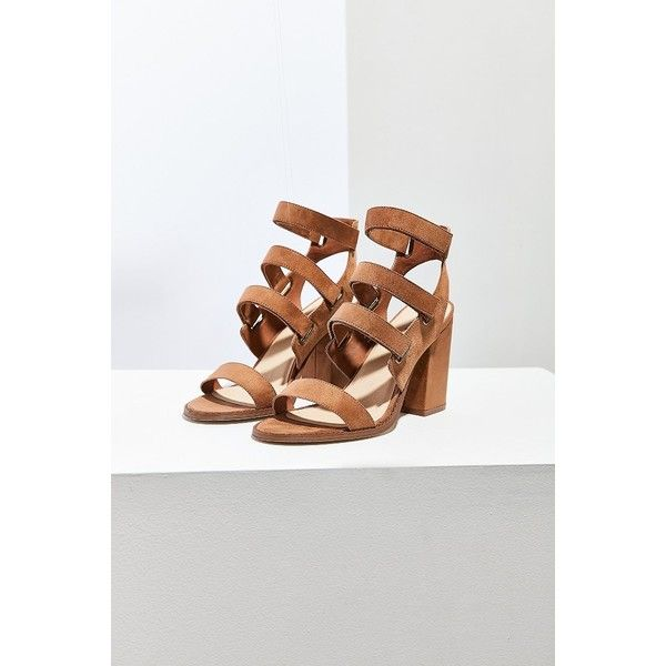 Strappy Heel found on Polyvore featuring polyvore, women's fashion, shoes, block heel shoes, strappy heel shoes, adjustable shoes, urban outfitters and high heel shoes