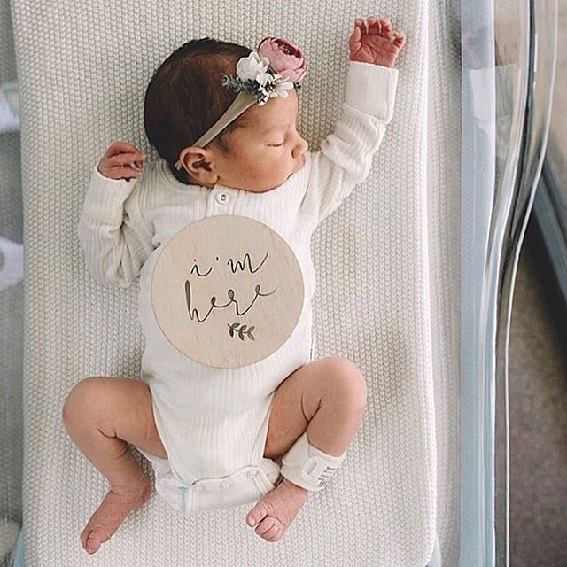 Welcome little beauty!! Sweet girl in cotton… #babylove #blessed #loved …