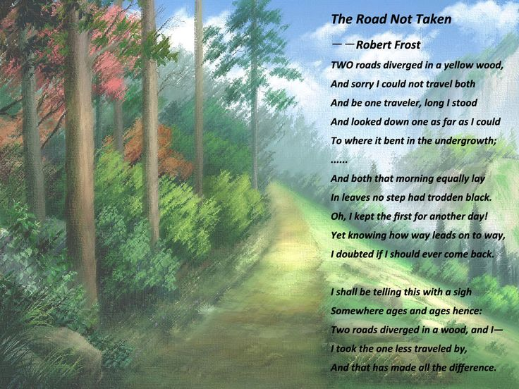 how to write a poem like the road not taken