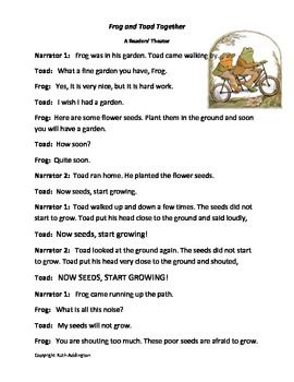 Frog and Toad Readers' Theatre