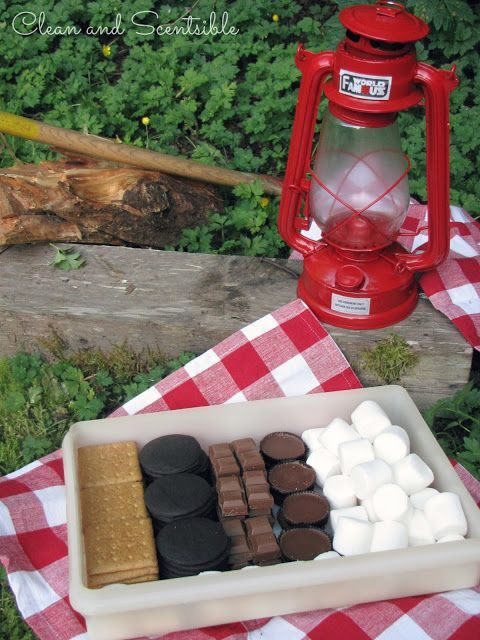Make a smores box to store all of your supplies! Duh.... So annoying to juggle the pack of crackers, the sticky bag of marshmallows, the candy bar... It wont change the world, but it will simplify my camping! - ruggedthug - Outdoor Ideas