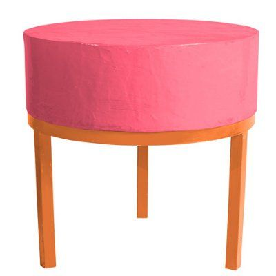 Color block side table.